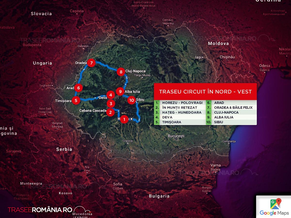 Traseu turistic in Romania in circuit - principalele orase din nord vest