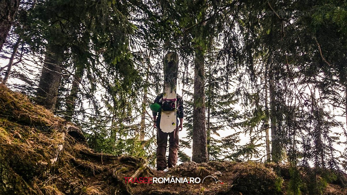 Snowboarding pe vai montane - Valea Alba - Muntii Bucegi