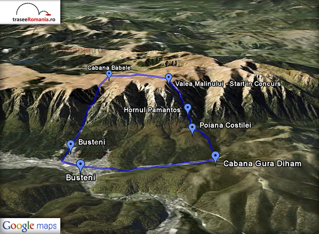 harta concurs ski snowboard valea malinului muntii bucegi