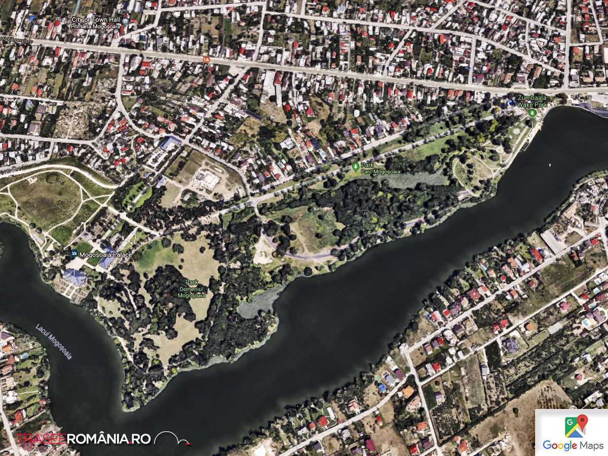 Harta Ansamblul Brancovenesc de pe Raul Colentina