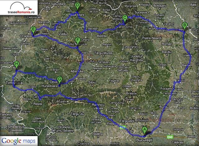traseu turul turistic al romaniei 12 zile