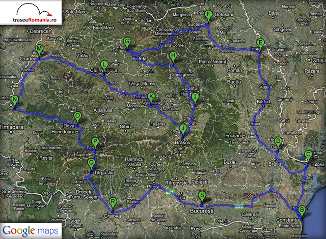 traseu turul turistic al romaniei 20 zile