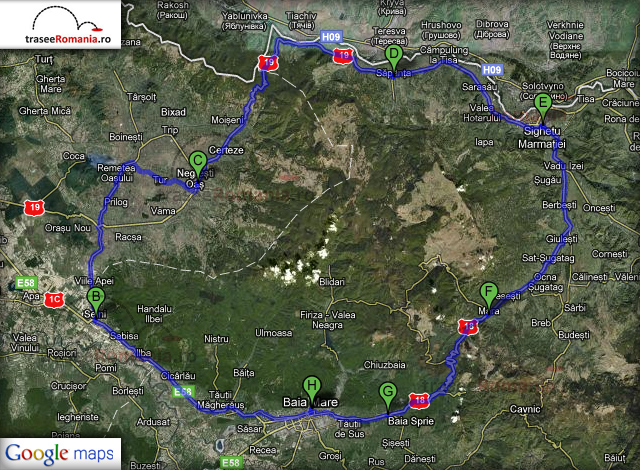 traseu turul turistic al romaniei in zona maramures oas zona turistica