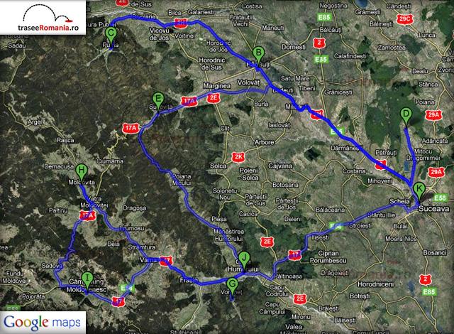 traseu turul turistic al romaniei in zona moldova de nord zona turistica