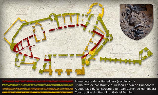 harta Cetatea Hunedoara - Cetatea Huniarzilor - Castelul Corvinestilor hunedoara