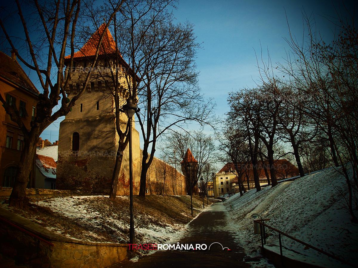 Parcul de langa Zidul vechi al cetatii Sibiu