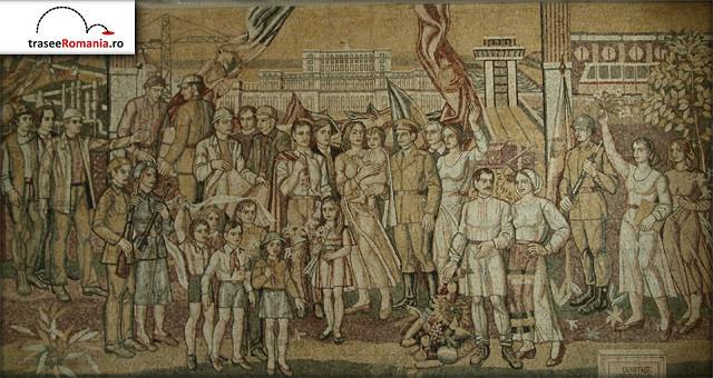 muzeul miliar national bucuresti mozaic nicolae ceausescu
