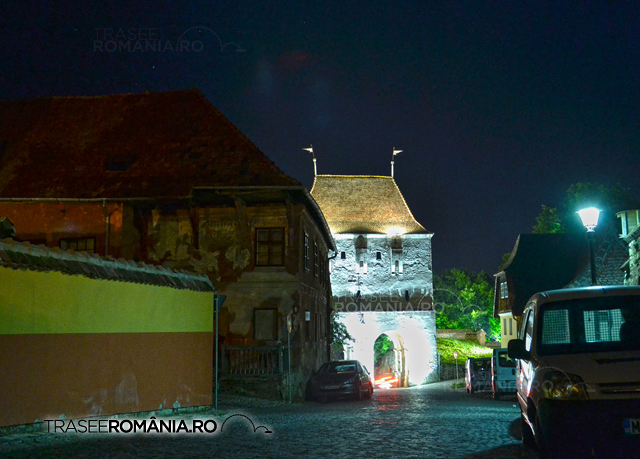 Sighisoara - Turnul Croitorilor noaptea