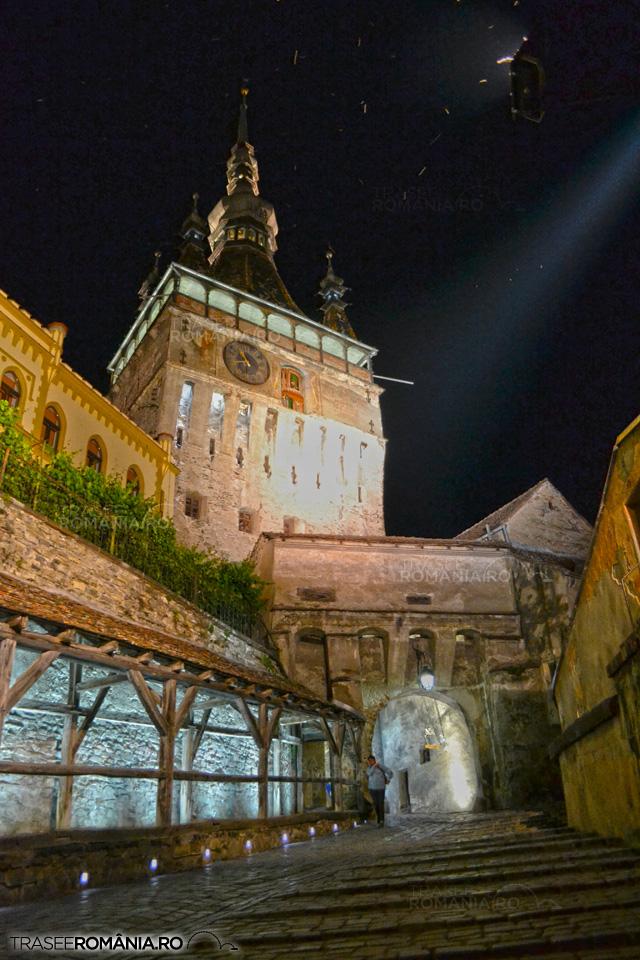 Sighisoara - Turnul cu ceas  noaptea