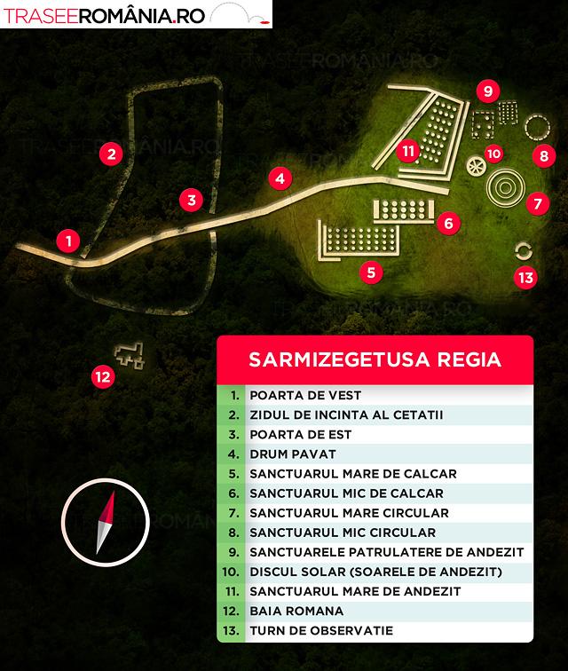 Sarmizegetusa Regia harta