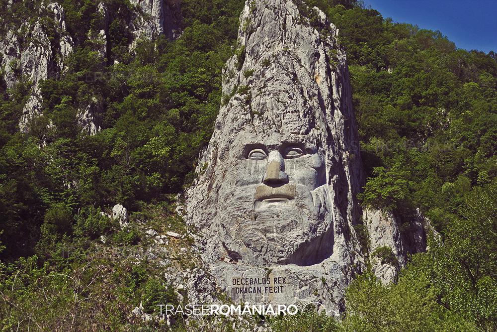 Statuia de la Dunare Chipul lui Decebal